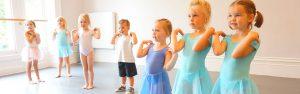 Young children at summer theatre school