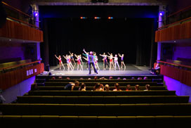 Theatre school pupils on stage at Parabola Arts Centre