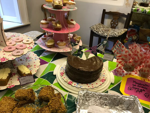 A table of cakes for Macmillan Cancer Support