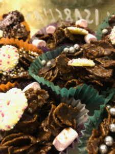 Corn Flake cakes for sale at Macmillan morning
